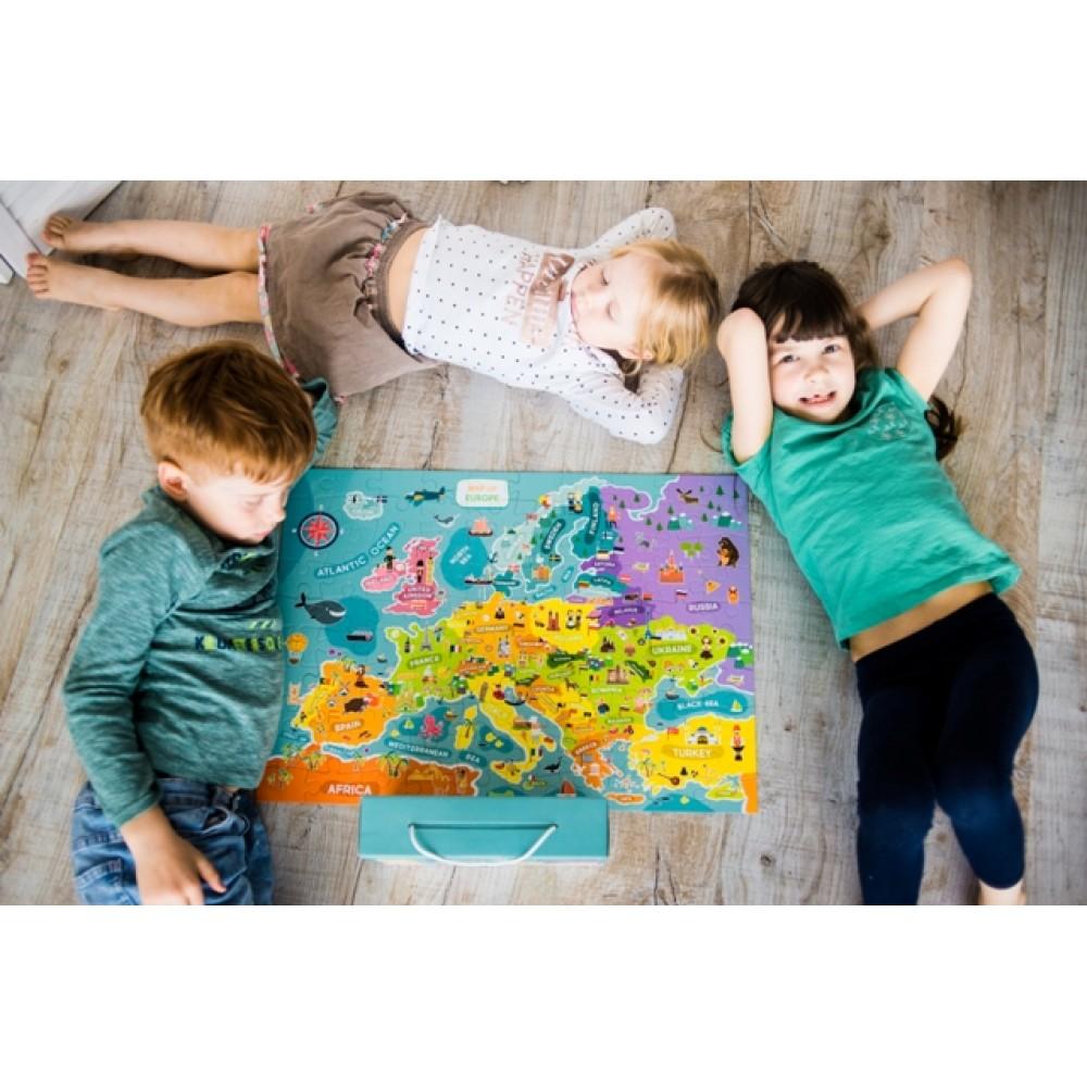 Mapa Evrope puzzle - 100 delova